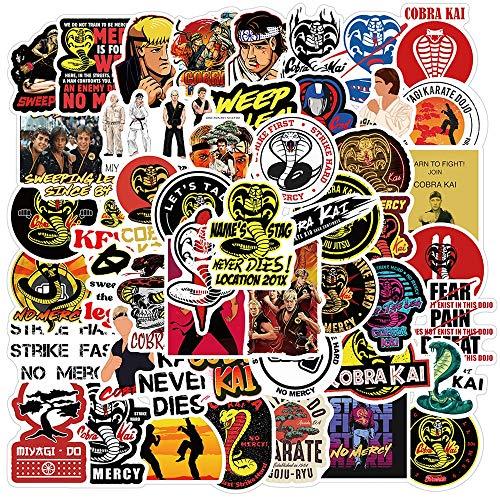 PMSMT 50PCS Classic Cobra Kai TV-Show Aufkleber Skateboard Kühlschrank Gitarre Laptop Motorrad Gepäck Cartoon Graffiti Aufkleber Aufkleber Geschenk