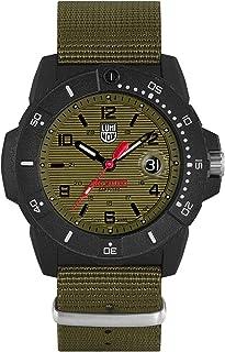 Luminox Mens Watch Navy Seal Magnifying Glass XS.3617.Set: 45mm Green, Black Dial Webbing Green Strap Water Resistance: 20...
