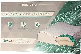 Lux-Living Gel Standard Memory Foam Pillow (Green, Contour)
