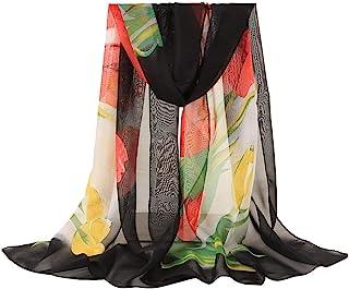 Bufanda Bohemia De Mujer,Bufanda De Gasa Estampada Aire Acondicionado Chal CáLido PañUelo De Tul Gasa Chal MantóN Suave Bufanda Moda Chals SeñOras Elegante Estolas Fular160x50cm