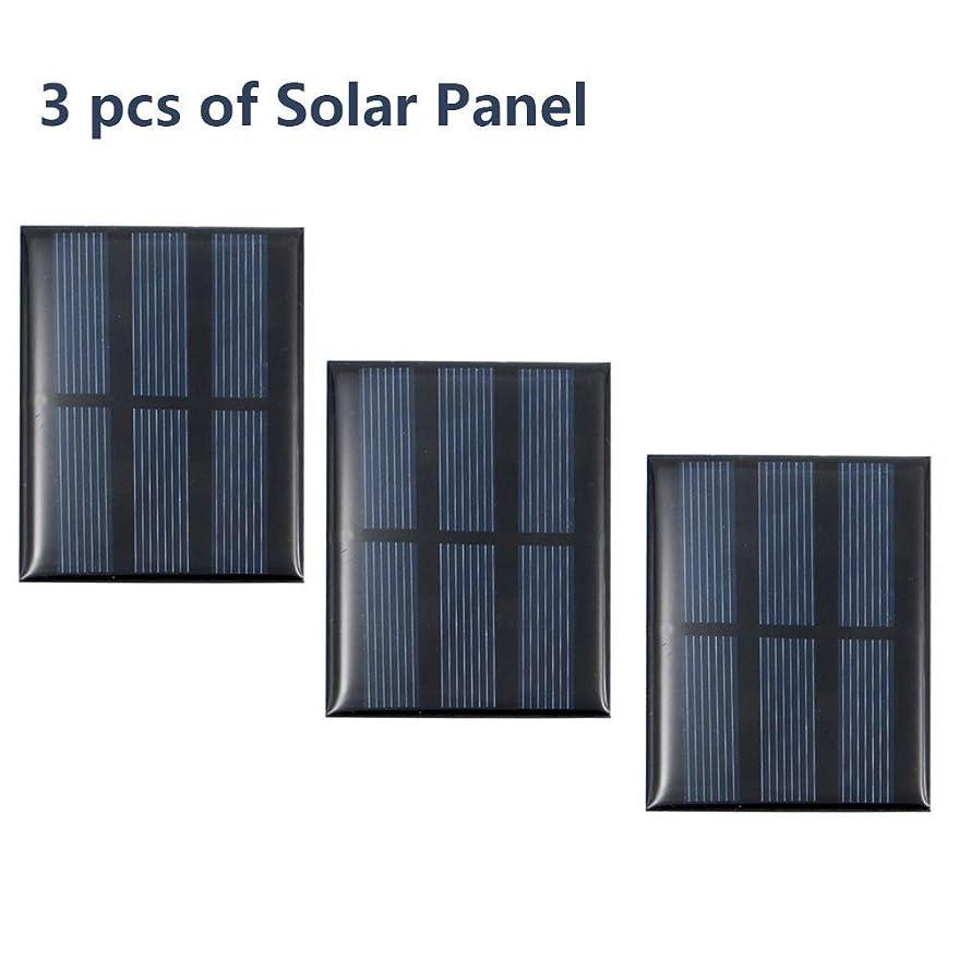 仲良し安いです処分したTreedix 1.5V 太陽電池 ソーラーパネル 太陽光パネル 太陽光発電 多結晶シリコン型 DIY (1.5V 0.65W 60*80mm)