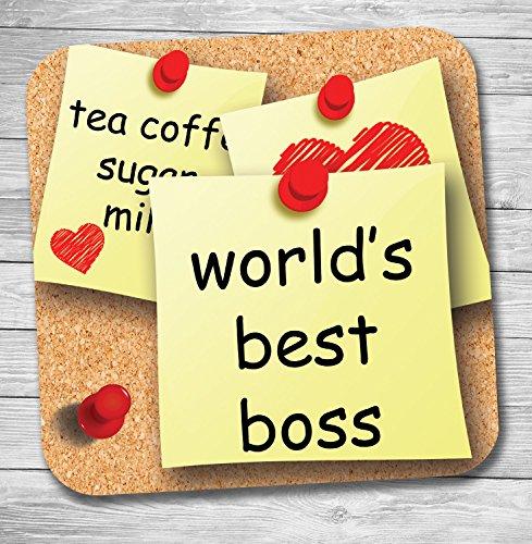 Funny/lustiges Geschenk Büro Banter Tee/Kaffee Untersetzer (World 's Best Boss)
