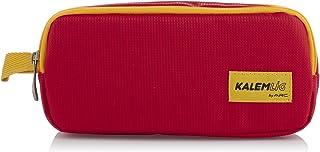 مقلمة قماش بسوستتين من كاليم لج، 21 × 10 سم، KL20-TIMD0343 - احمر وبرتقالي
