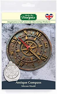 Katy Sue Antique Compass Silicone Mold for Cake Decorating, Crafts, Cupcakes, Sugarcraft, Cookies, Candies, Cards and Clay, Food Safe Approved, Made in The UK