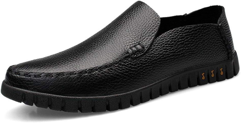 ZHRUI Boy's Men's Spring Casual Slip-ons Lightweight Loafers (color   Black, Size   10 UK)