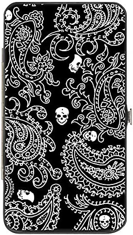 Buckle Down womens Buckle down Hinge Bandana Skulls Black White Wallet Multicolor 7 x 4 US product image