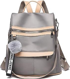 Rucksack Damen Diebstahlsicher Schultertasche Oxford: 2 in 1 Wasserdicht Schulrucksack Tasche Elegant Umhängetasche für Un...