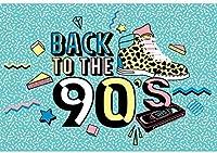 HD 10x7ftビニールの写真撮影の背景90年代をテーマにしたパーティーの背景90年代の背景に戻るパーティーの装飾の背景子供大人ポートレート写真の小道具スタジオ写真ブースの背景