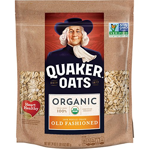 Quaker Organic Old Fashioned Oats, Non-GMO Project Verified, 24 Ounce, Resealable Bag