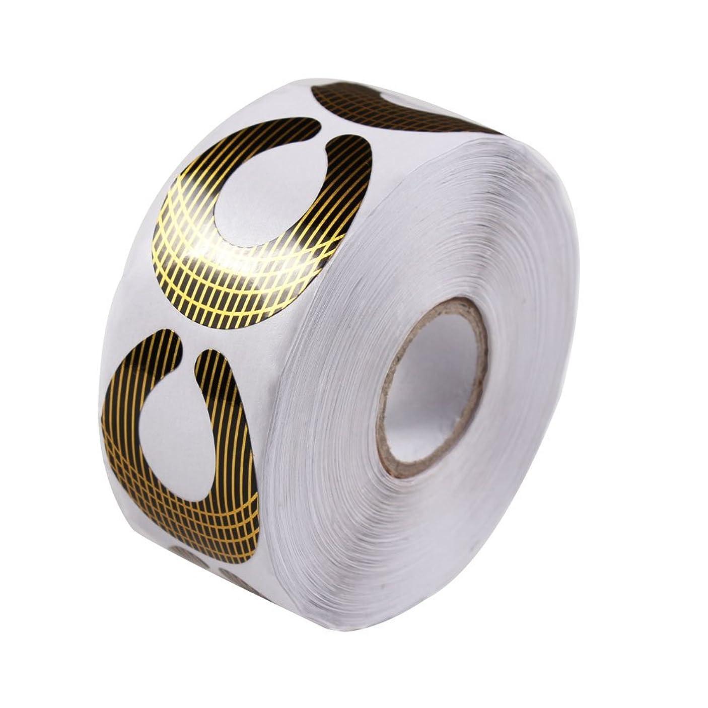領事館ステーキ厳密にFingerAngel 2018夏 新しいデザイン ネイルフォーム ゴールド 500枚 ネイルアート練習 ネイルサロンも自宅も簡単に使えるネイルフォーム