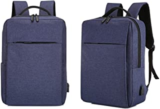 Dengyujiaasj Backpack, Business Notebook Computer Backpack Shoulder Bag Backpack Gift Bag Merging (Color : Dark Blue)