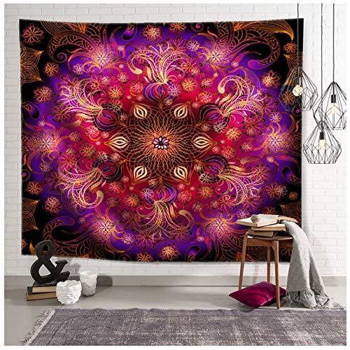 Aienid Wandbehang Orientalisch Mandala Blumenmuster Mehrfarbig Wandteppich Size:200X150CM