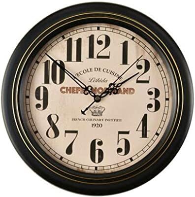 ZHJZBGZ European Retro Mute Wall Clock Living Room Jane Antique Hanging Table American Country Nostalgic Nordic