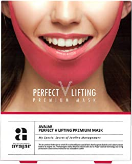 Avajar Perfect V Lifting Premium Mask 5ea in 1 pack-a woman's age is determined by her jaw line