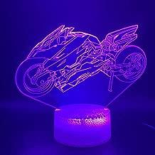 Colorida Luz Nocturna 3D Veicoli Freschi Motocicletta Lampada Da Notte A Led Lampada Da Ufficio Decorazione Della Stanza Di Casa Atmosfera Ragazzi Bambini Bambino Re Regalos De Navidad Para