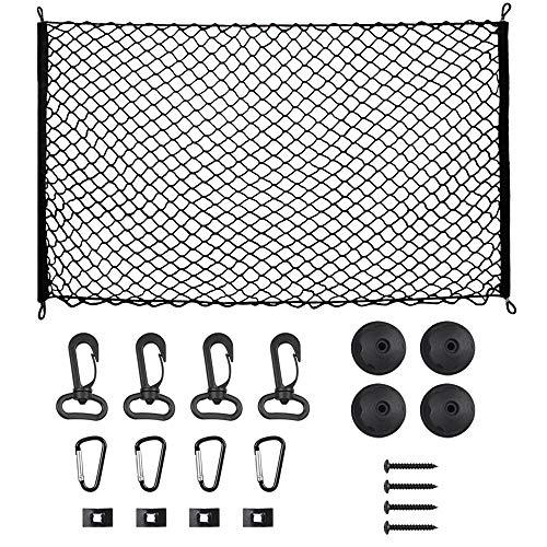 OTUAYAUTO Auto Kofferraum Netz, Auto Gepäcknetz aus Elastisch Nylon 115x60cm für meisten Fahrzeugtypen