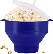 Microwaveable Silicone Popcorn Popper, BPA Free Collapsible Hot Air Microwavable Popcorn Maker Bowl, Use In Microwave or O...
