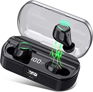 AMINY T23 Wireless Earbuds Bluetooth Headphones 80 Hrs Playtime Bluetooth Earphone IPX7 Waterproof Bluetooth 5.0 Stereo H...
