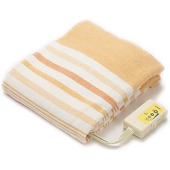 ライフジョイ 電気毛布 敷き 日本製 シングル オレンジ 130cm×80cm 洗える 省エネ リバーシブル JBS401