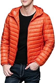 Macondoo Men Warm Hooded Cotton-Padded Puffer Quilted Outwear Down Jacket