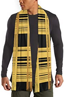 Men's And Women Winter Fashion Scarf Crosswise Weave Rare Fiber Fabric Mesh Long Plain Warm Soft Scarves For Men - Cotton Scarves For Winter 71inx 1