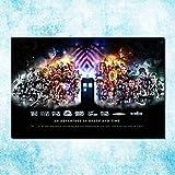 TTbaoz Tangram Puzzle Doctor Who Puzzle de cartón 1000 Piezas Juguete Divertido para Adultos Decoración del hogar-Noche Estrellada Serie de TV 70 * 50cm
