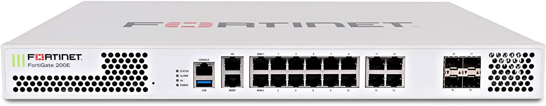 Fortinet FortiGate-200E Hardware plus 3 Year 24x7 FortiCare and FortiGuard Unified (UTM) Protection FG-200E-BDL-950-36