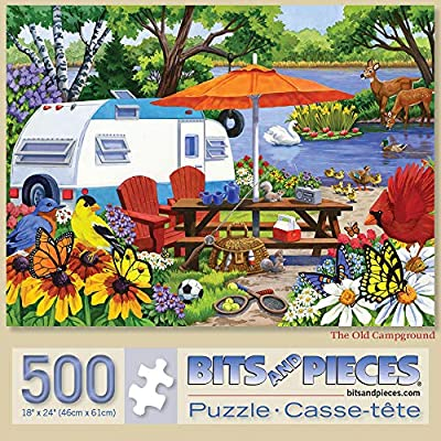 "Bits and Pieces - 500 Piece Jigsaw Puzzle for Adults 18"" X 24"" - The Old Campground - 500 pc Jigsaws by Artist Nancy Wernersbach by Melville Direct"
