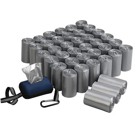 Qsbon 1400 Bolsas para excrementos de mascotas para perros, 40 rollos Bolsas para excrementos a prueba de fugas Bolsas para desechos de perros + 1 dispensador