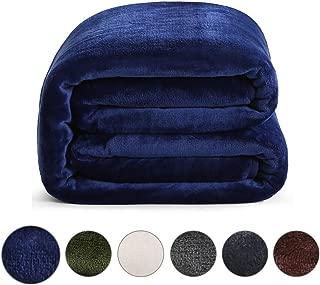 Fraylon Throw Blanket for Couch Bed Sofa Soft Microplush Lightweight Thermal Fleece Travel Blankets (Dark Blue,50x61 Inch)