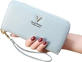Ronshin Fashion Multifunction Women Long Deer Head Zipper Purse Coin Case Cards Holder