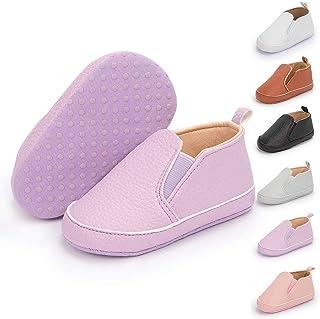 Meckior Infant Baby Girls Boys Canvas Shoes Soft Sole Toddler Slip On Newborn Crib Moccasins Casual Sneaker Austin Boy's F...