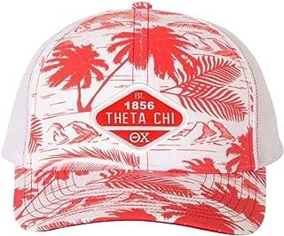 Theta Chi Island Print Snapback Trucker Cap