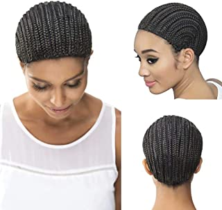 Wome Hair Black Braid Cap Crochet Braids Cap for Easier Sew In,1pcs/Lot Braiding Wigs Cap