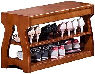 AOIWE Étagère à chaussures moderne et simple en bois à double couche