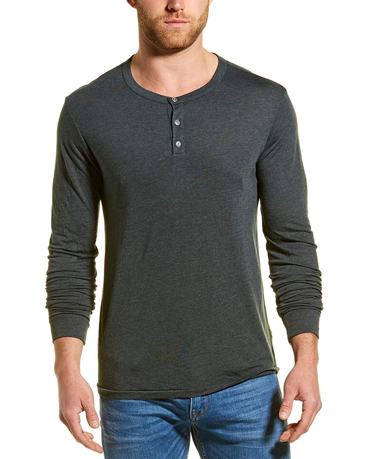 Sol Angeles Mens Essential Henley, M, Gray