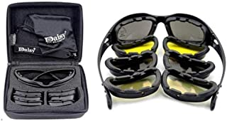 Daisy C5 Military Goggles 4 Lenses Outdoor Sports Hunting Polarized Sunglasses
