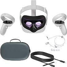 2020 Oculus Quest 2 All-In-One PC VR Virtual Reality Headset 256GB de Natal do feriado Família Bundle, Mytrix Estojo de Pr...