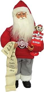 Santa's Workshop OHB012 Ohio State Santa with Brutus Figurine, 15