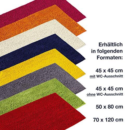 Badmat Oranje – Badkamer Tapijt kan gecombineerd worden tot een set – Antislip & Maschinewasbaar – Toiletmat 70 x 120 cm