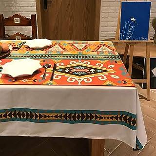 GAOFENG Nappe, Linge de Table Rétro Tissu Nappe Rectangulaire Imperméable Table Basse Tissu Couverture Accueil Nappe Style...