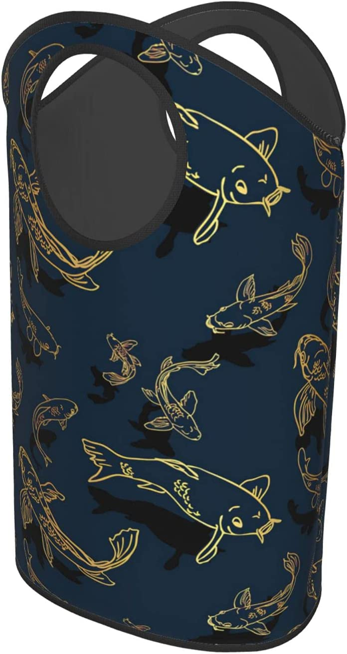Koi Fish JapaneseLaundry Hamper Foldable Upright Bag Max 90% OFF Or Clothes Fashion