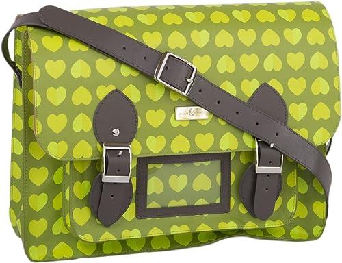 Beau Elliot y Confeti verde Bag Satchel efectivo