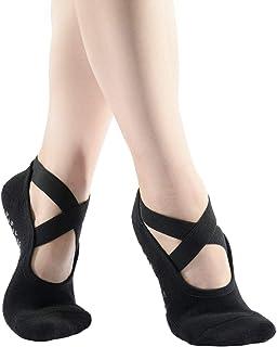 Pauboland, Calcetines de ballet para mujer, acolchados, antideslizantes, con asas