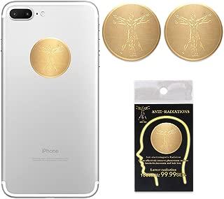 Anti Radiation Protector Shield Cell Phone Sticker EMF EMR Blocker (Gold 2pcs)