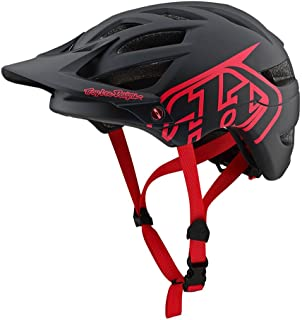 Troy Lee Designs Adult | Trail | Enduro | Half Shell A1 Drone Mountain Biking Helmet (X-Large/XX-Large, Black/Red)