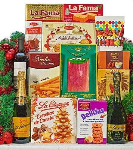 Cesta Gourmet de Navidad - Incluye: 1 Bot. BRUT charmat Don Luciano 75cl-1...