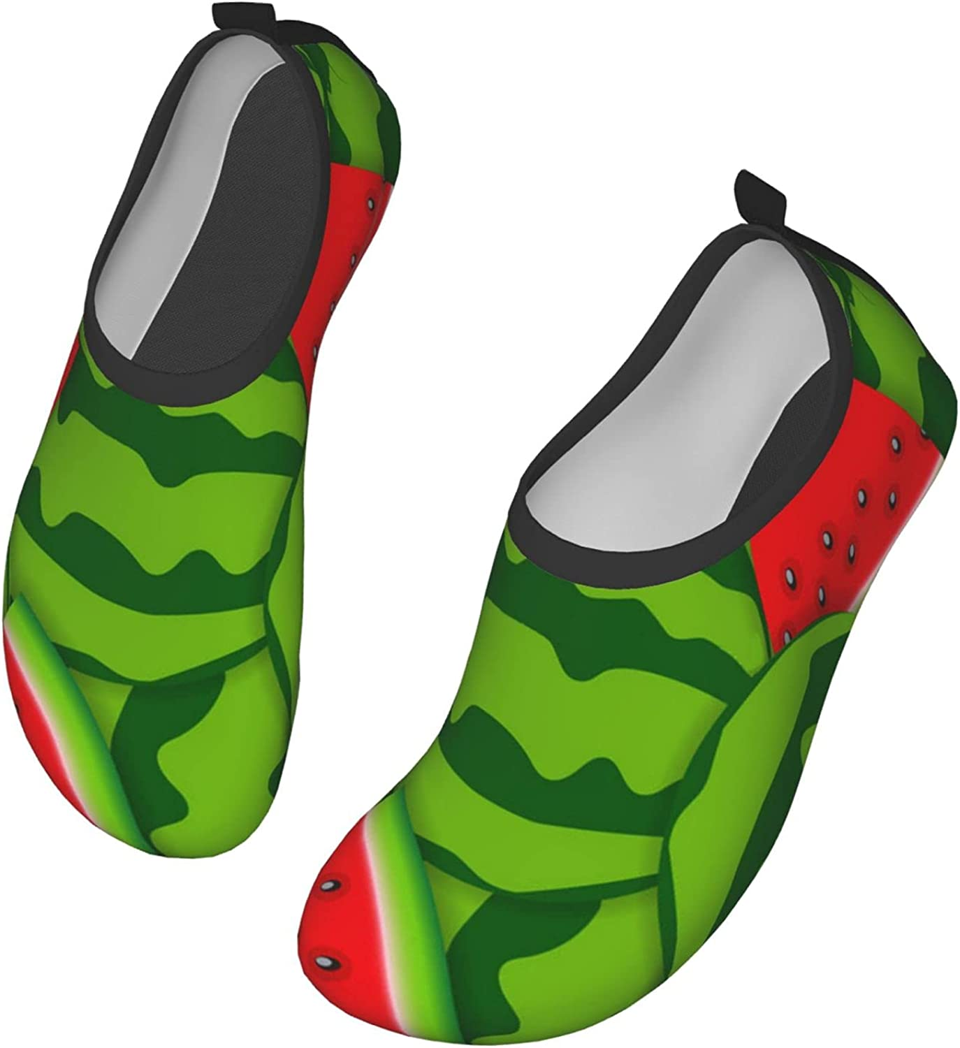 Fasso Watermelon Womens and Mens Water Shoes Barefoot Quick-Dry Aqua Socks Slip-On for Outdoor Beach Swim Yoga