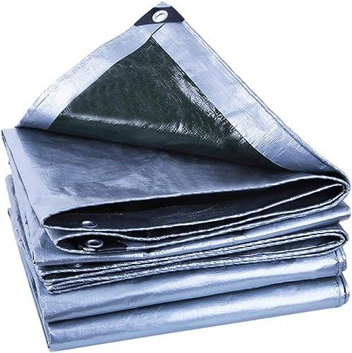 LIXIONG Bache De Plein Air Ombre Bache Prougeection Contre Le Froid Anti-oxydation Tissu Anti-pluie, 22 Tailles Personnalisable (Couleur   argent, taille   2.8X4.8m)