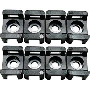 Pro Tie N10SM100 .9 Inch Long x .63 Inch Wide Saddle Mount Cable Tie Mount 100-Pack Natural Nylon